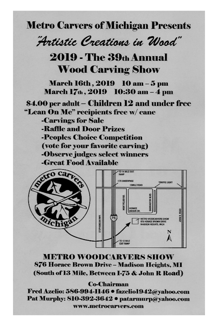 2019 – 39th Annual Wood Carving Show – Tony's Fan Carving